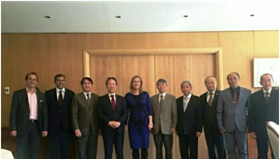 Photo taken at Lunch hosted by Jap Ambassador