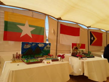 Myanmar booth at Exhibition